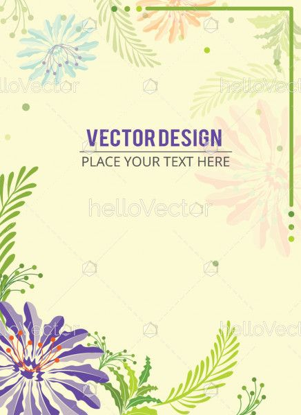 Floral Banner, Abstract floral effect background banner with text - Vector illustration