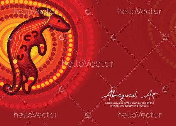 Aboriginal poster design with kangaroo artwork