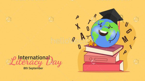 International Literacy Day Concept Flat Illustration