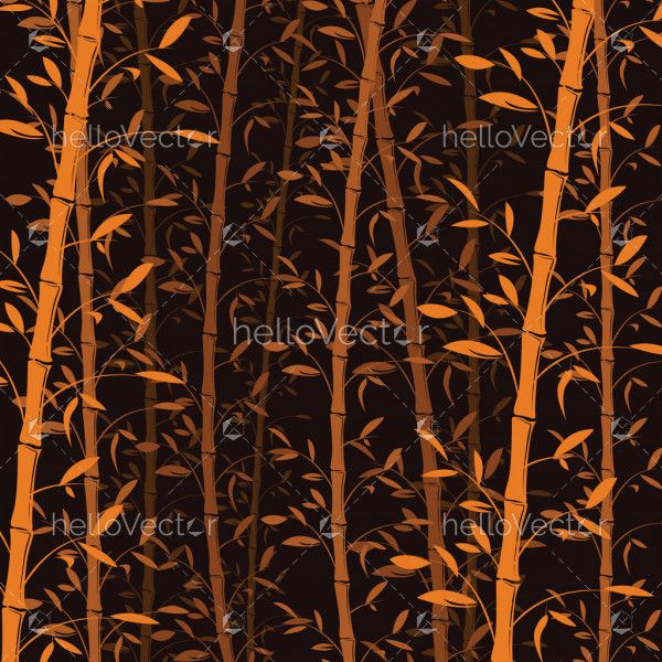 Seamless bamboo pattern background. Bamboo forest wallpaper - vector illustration