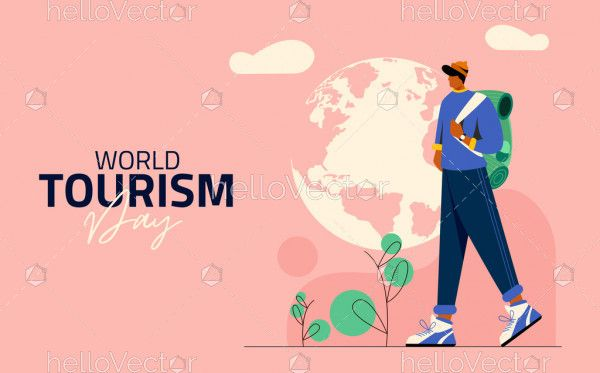 World Tourism Day Vector Poster