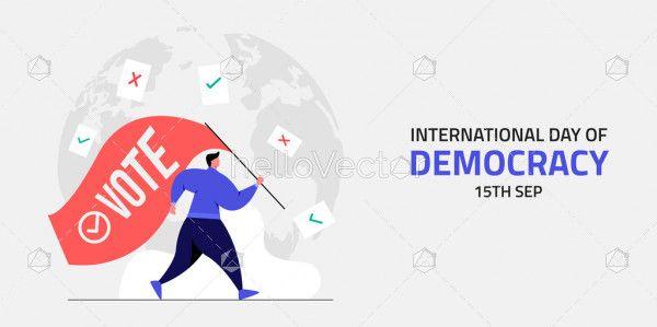 International Day of Democracy Flat Design