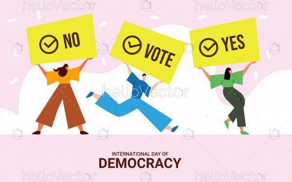 International Day of Democracy Flat Illustration