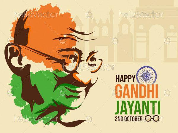Mahatma Gandhi Abstract Portrait, Happy Gandhi Jayanti