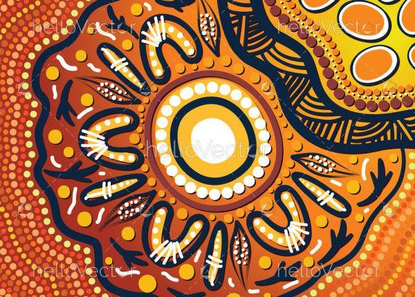 Aboriginal dot design artwork