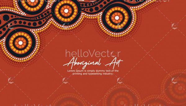 Aboriginal artwork for poster design