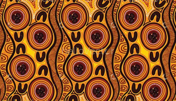 Aboriginal seamless pattern design