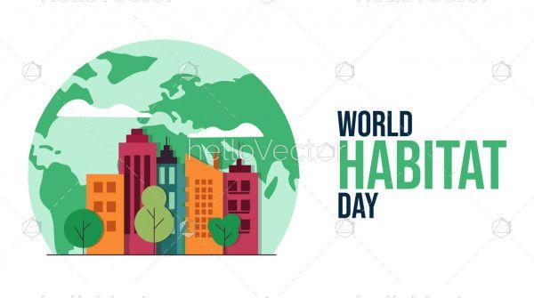 World Habitat Day Flat Design Template