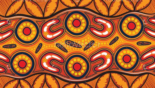 Aboriginal vector background for printing