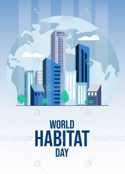 Vector Template of World Habitat Day