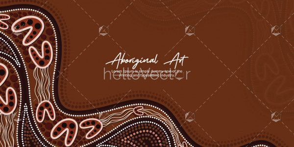 Brown Aboriginal Artwork Banner