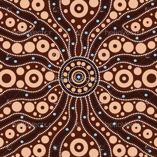 Connection concept, Aboriginal art vector painting