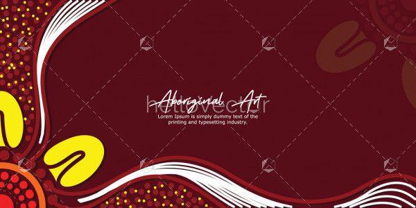 Banner design with aboriginal work