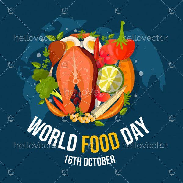 World Food Day Banner Illustration