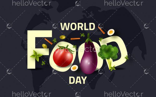 World food day concept illustration