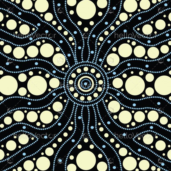Aboriginal art vector painting, Connection concept background