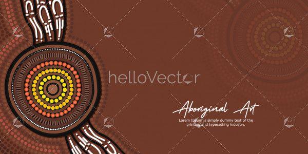 Brown Aboriginal Circle Artwork Banner