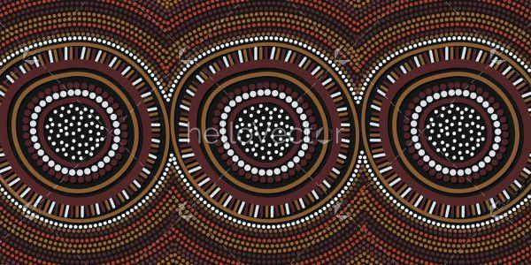 Aboriginal dot circle design background