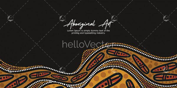 Black Aboriginal Artwork Banner