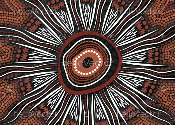 Aboriginal painting for meditation
