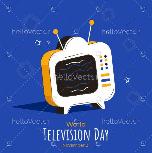 World Television Day Illustration, November 21