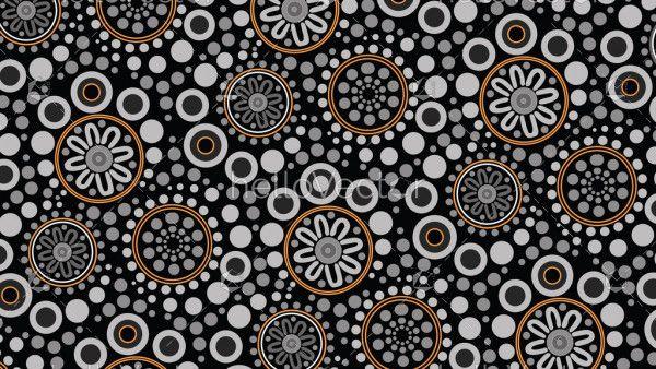 Aboriginal dot art background - Vector illustration