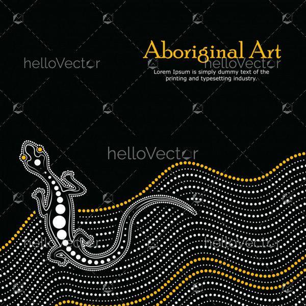 Aboriginal art vector Banner with text