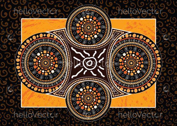 Aboriginal art vector painting