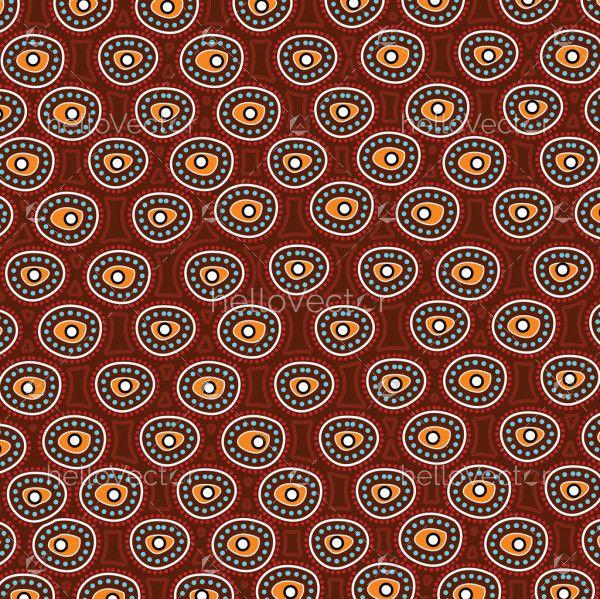 Aboriginal art vector dot background.