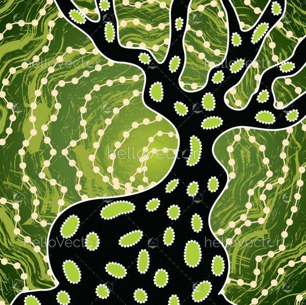 Aboriginal dot art vector background.